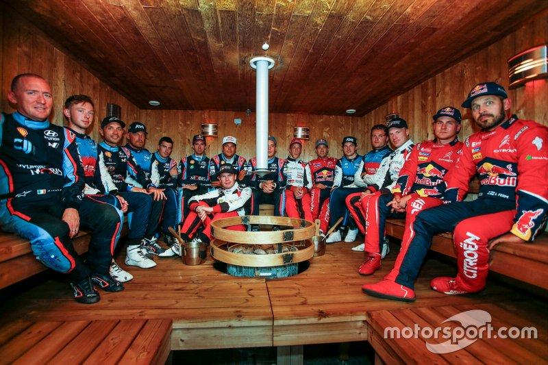 Pilotos en el sauna