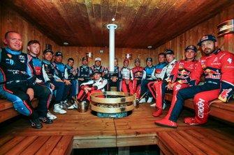 All driver in the sauna