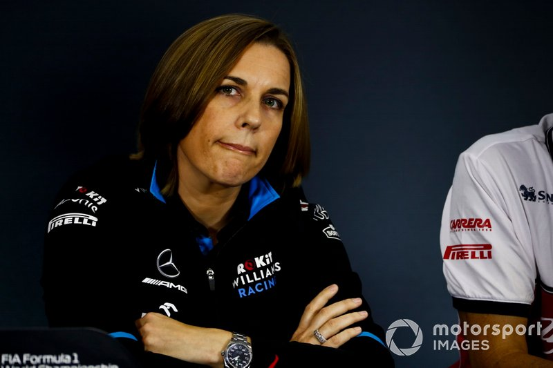 Claire Williams, directrice adjointe de Williams, en conférence de presse