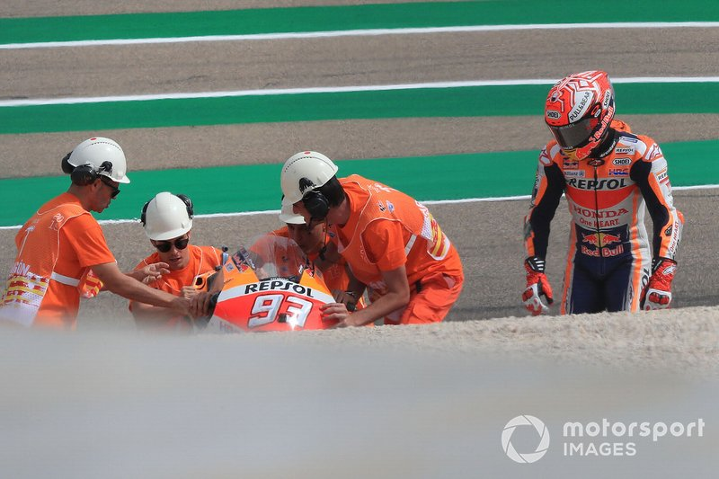 Marc Marquez, Repsol Honda Team after his crash