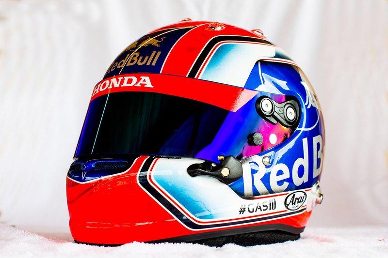 Casco de Pierre Gasly, Toro Rosso