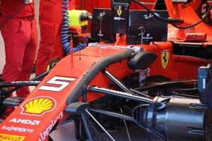 Sebastian Vettel, Ferrari SF90 front detail