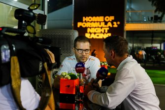 Andreas Seidl, Director de Equipo, McLaren, es entrevistado