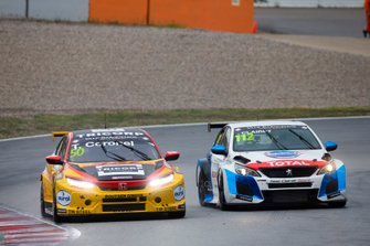 Tom Coronel, Boutsen Ginion Racing Honda Civic Type R, Jimmy Clairet, Team Clairet Sport Peugeot 308 TCR
