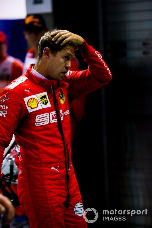 Sebastian Vettel, Ferrari al Parc Ferme