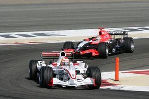 Yuji Ide, Super Aguri SA05-Honda, Tiago Monteiro, Midland M16-Toyota