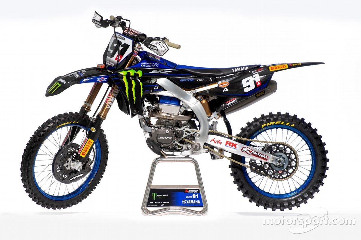 La moto de Jeremy Seewer, Monster Energy Yamaha Factory Racing