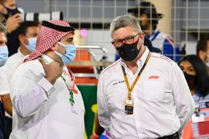 A dignitary on the grid with Ross Brawn, Managing Director of Motorsports, FOM