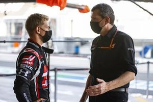 Mick Schumacher, Haas F1, with Guenther Steiner, Team Principal, Haas F1