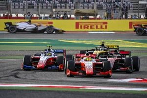 Mick Schumacher, Prema Racing leads Robert Shwartzman, Prema Racing, Callum Ilott, UNI-Virtuosi and Guanyu Zhou, UNI-Virtuosi