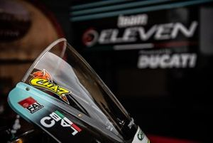 Bike detail of Chaz Davies, Team Go Eleven