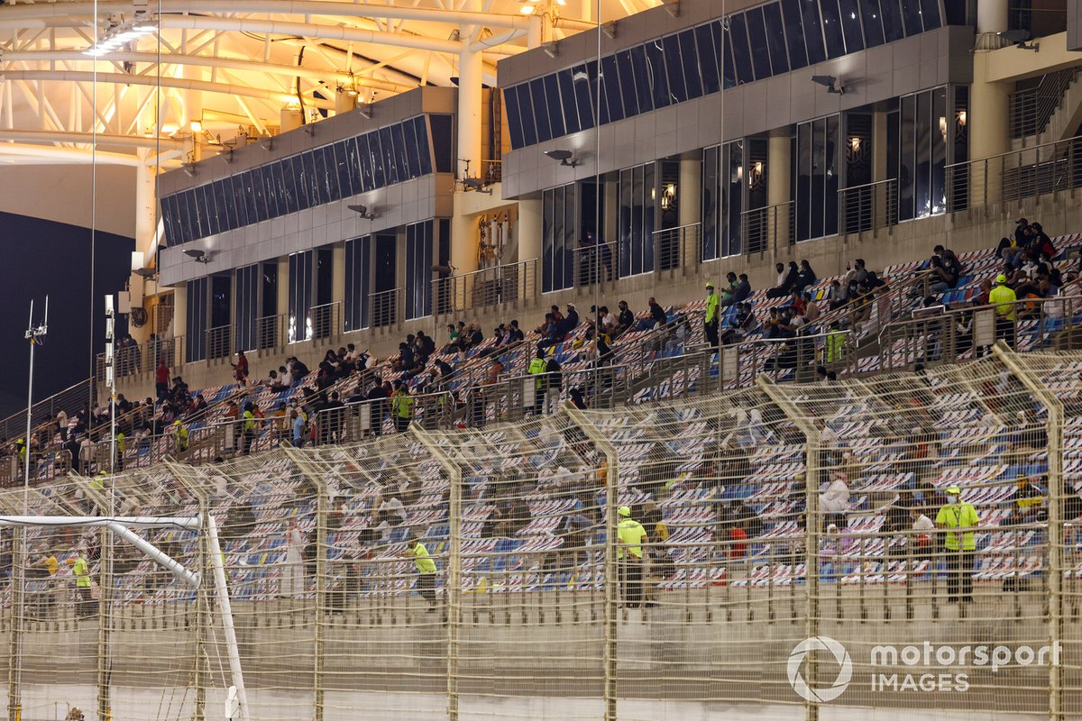 Fans in the grandstands