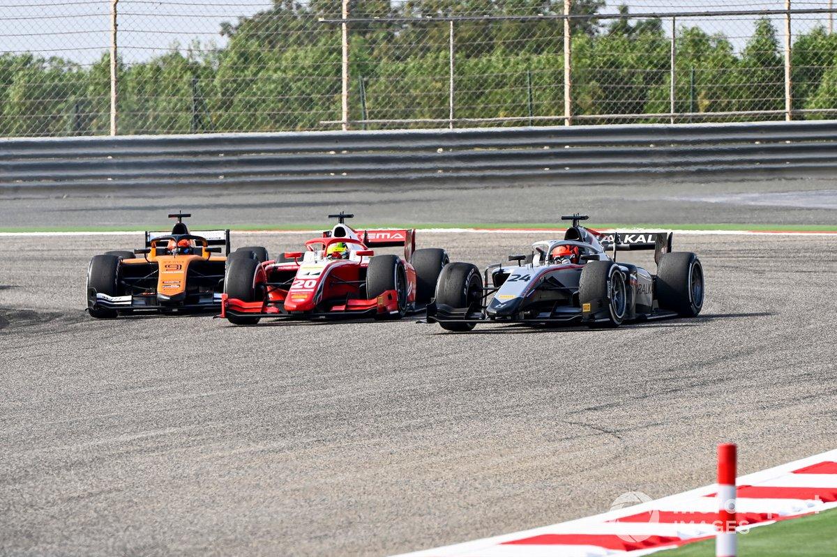 Nikita Mazepin, Hitech Grand Prix, Mick Schumacher, Prema Racing y Jack Aitken, Campos Racing