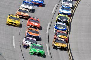 Kyle Busch, Joe Gibbs Racing, Toyota Camry Interstate Batteries and Christopher Bell, Joe Gibbs Racing, Toyota Camry DEWALT
