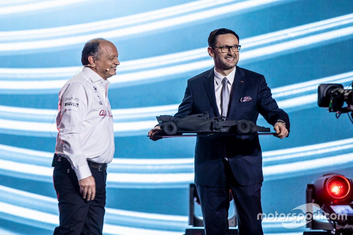 Frédéric Vasseur, Team Principal Alfa Romeo Racing, Daniel Obajtek, PKN Orlen/CEO