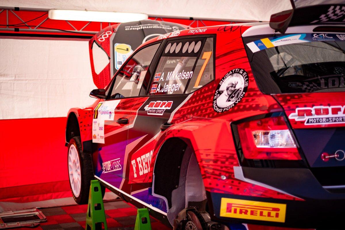 Andreas Mikkelsen, Anders Jaeger, Skoda Fabia Rally2 evo