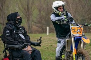 Bryan Toccaceli, VR46 Riders Academy coach with Niccolò Antonelli