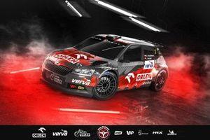 Kacper Wróblewski, Jakub Wróbel, Skoda Fabia Rally2 evo