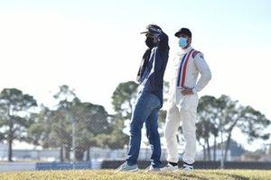 Dario Franchitti with Jimmie Johnson, Chip Ganassi Racing Honda
