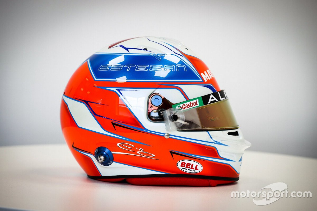 Casque d'Esteban Ocon, Alpine F1 Team