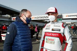 Gerhard Berger, ITR Chairman, Nico Muller, Audi Sport Team Abt Sportsline