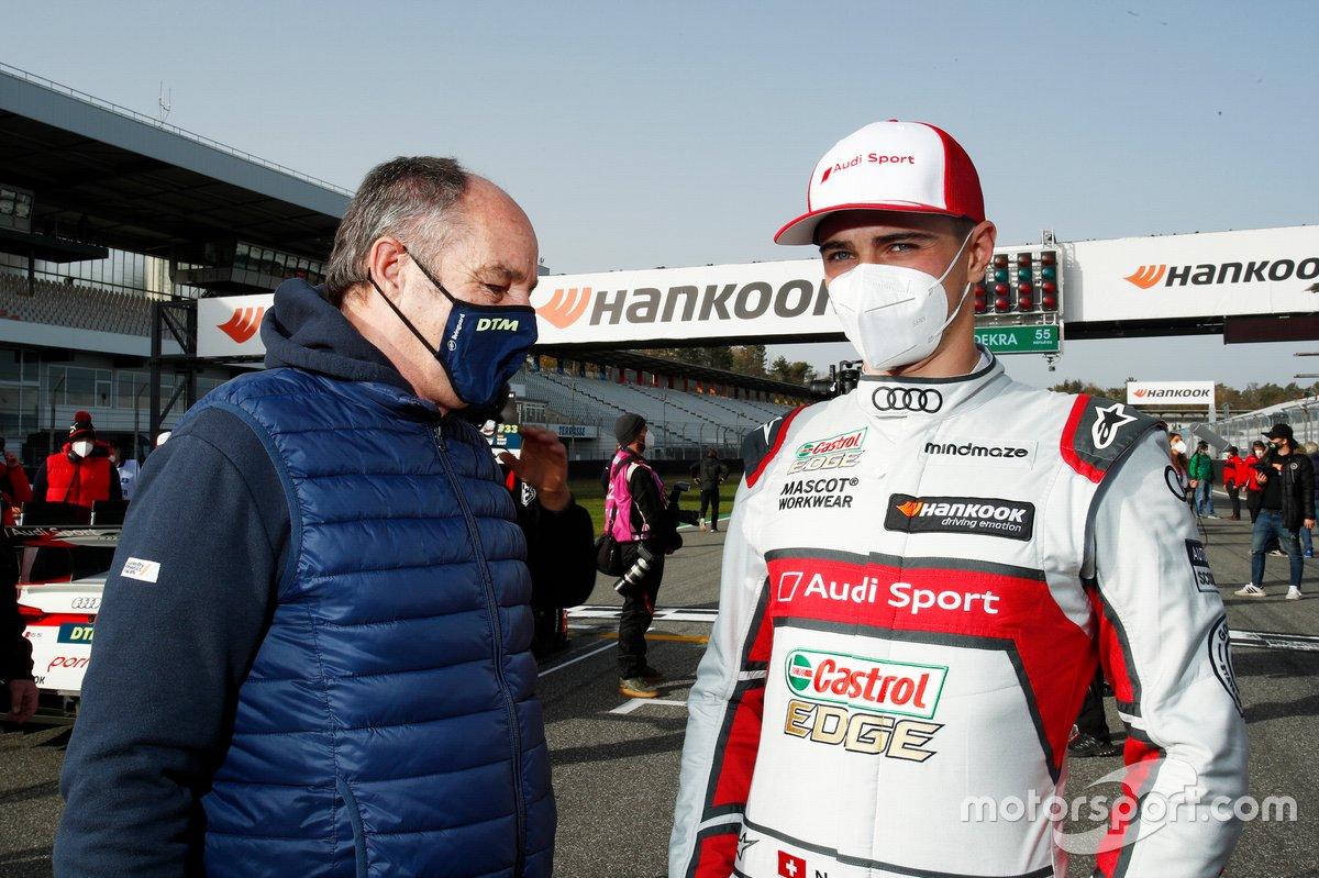 Gerhard Berger, Presidente ITR, Nico Muller, Audi Sport Team Abt Sportsline