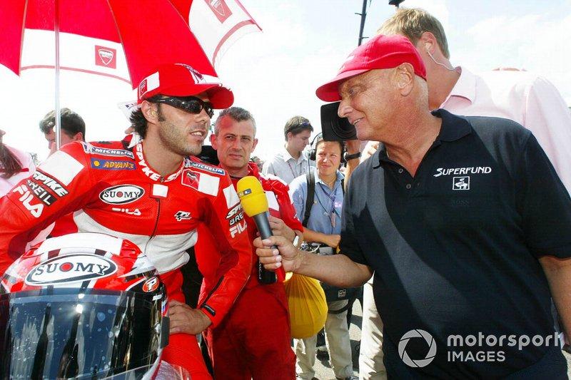 Niki Lauda and Loris Capirossi