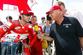 Niki Lauda y Loris Capirossi