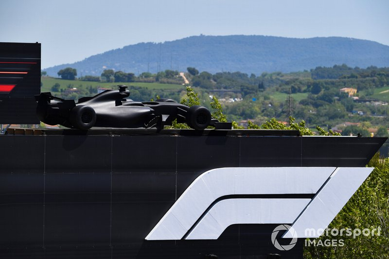 An F1 car on a roof