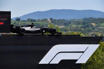 An F1 car on a roof
