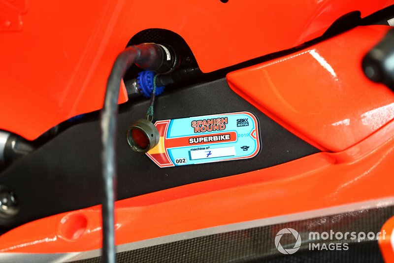 Chaz Davies, Aruba.it Racing-Ducati Team scrutineering sticker