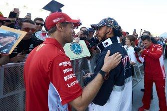 Sebastian Vettel, Ferrari and Lewis Hamilton, Mercedes AMG F1