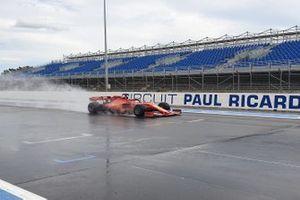 Charles Leclerc, Ferrari, Test Pirelli al Paul Ricard, Day 1