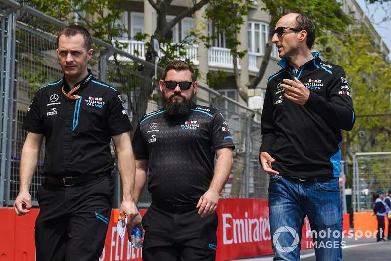 Robert Kubica, Williams Racing cammina in pista con i suoi ingegneri