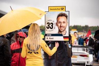 Grid girl, René Rast, Audi Sport Team Rosberg