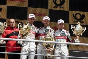 Podium, Nico Müller, Audi Sport Team Abt Sportsline, René Rast, Audi Sport Team Rosberg, Robin Frijns, Audi Sport Team Abt Sportsline