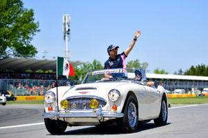 Sergio Perez, Racing Point, in the drivers parade