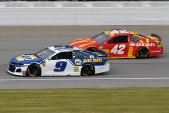 Chase Elliott, Hendrick Motorsports, Chevrolet Camaro NAPA AUTO PARTS Kyle Larson, Chip Ganassi Racing, Chevrolet Camaro McDonald's