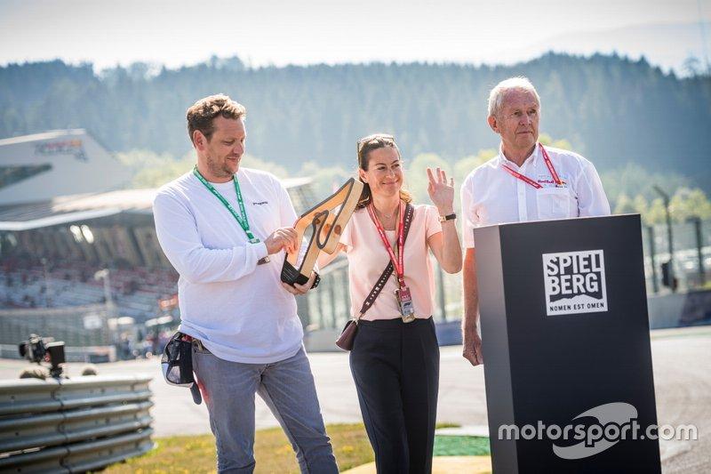 Lukas Lauda, Birgit Lauda et le Dr. Helmut Marko