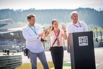 Lukas Lauda, Birgit Lauda and Dr. Helmut Marko