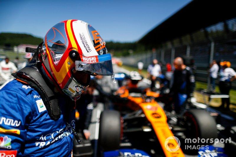 Carlos Sainz Jr., McLaren sulla griglia