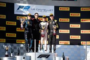 Race winner Nyck De Vries, ART Grand Prix , second place Sergio Sette Camara, DAMS, third place Jack Aitken, Campos Racing