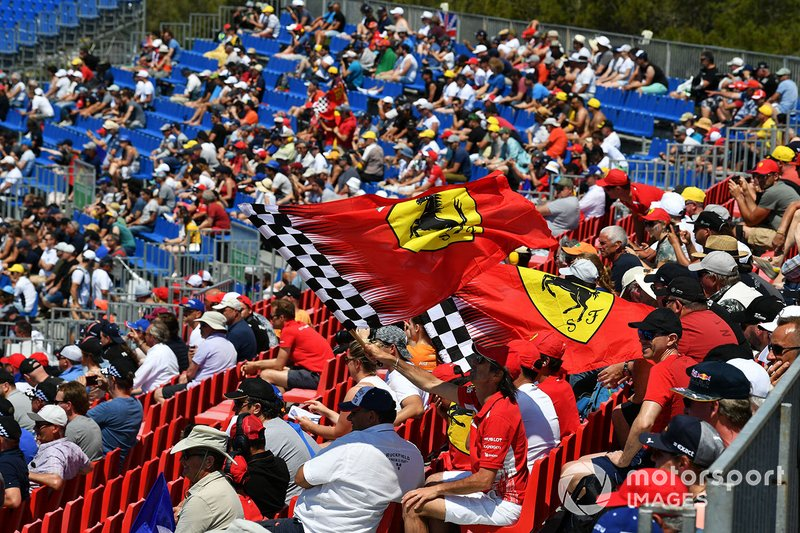 Support for Ferrari in a grandstand