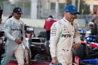 Pole man Valtteri Bottas, Mercedes AMG F1, after Qualifying
