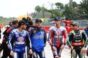 Sandro Cortese, GRT Yamaha WorldSBK, Alex Lowes, Pata Yamaha, Michael van der Mark, Pata Yamaha, Leon Haslam, Kawasaki Racing Team