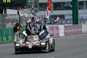 Winner #8 Toyota Gazoo Racing Toyota TS050: Sébastien Buemi, Kazuki Nakajima, Fernando Alonso