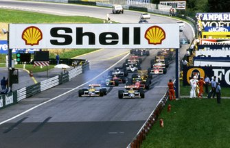 Nelson Piquet, Williams FW11B y Nigel Mansell, Williams FW11B