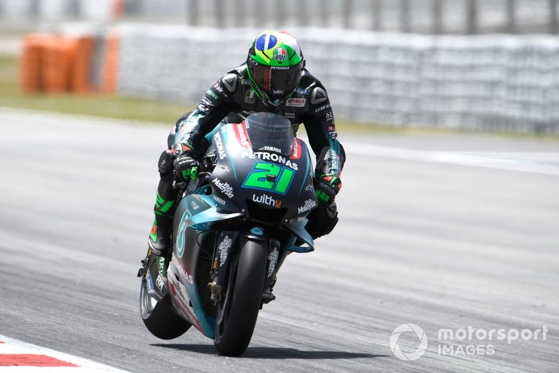 Franco Morbidelli, Petronas Yamaha SRT, in frenata