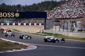 Einführungsrunde zum GP Pazifik 1994 in Aida: Ayrton Senna, Williams FW16, führt