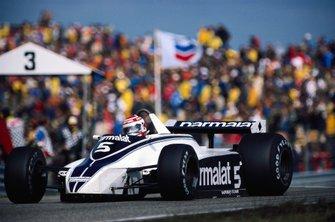Ganador del GP de Holanda 1980: Nelson Piquet, Brabham BT49 Ford
